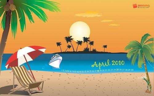 calendario de la playa wallpaper