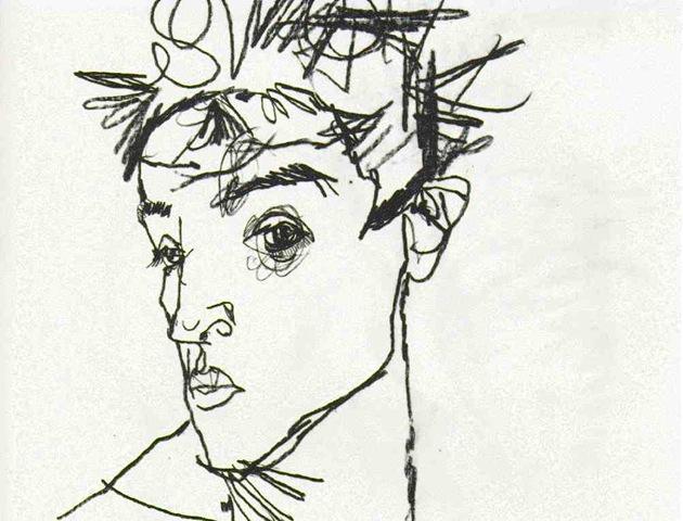 schiele.self-portrait