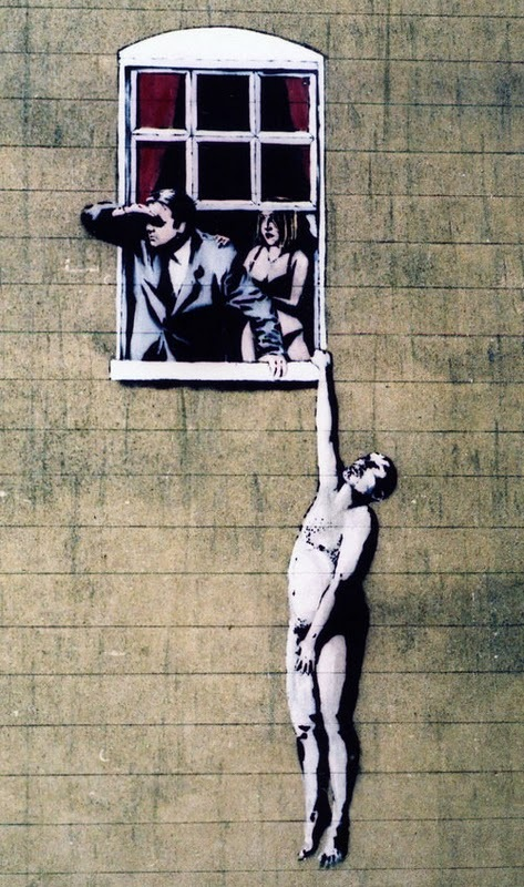 Naked Man image by Banksy_ Ajuk via boredpanda