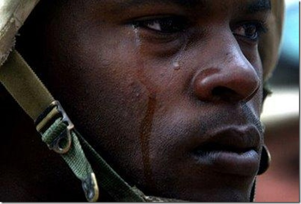 crying solider