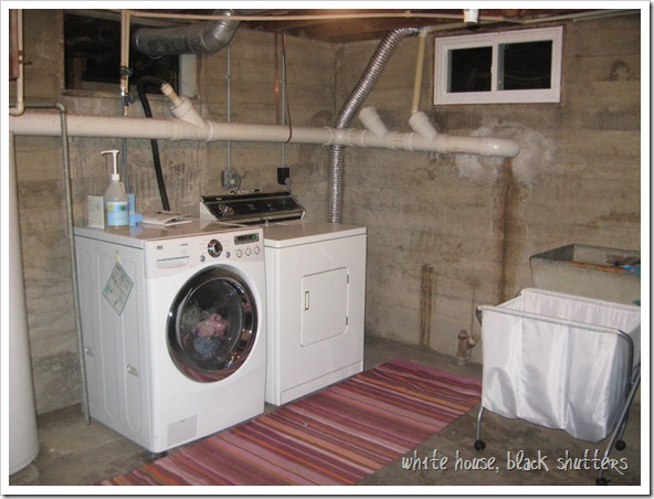 basement laundry room gets a little brighter - white house black