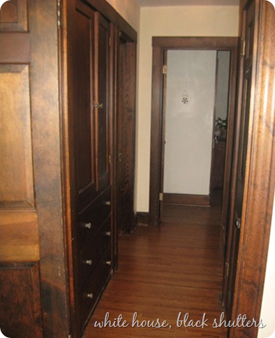 Help me wednesday painting wood trim white house for Wood doors painted white