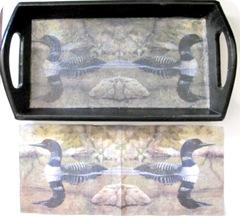 loon mod podge tray and napkin