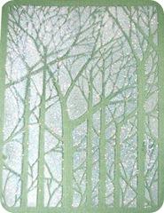 tree dk green stencil
