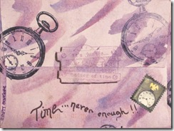 Lennas mail art swap back Julie C