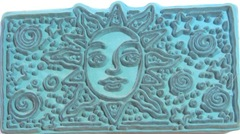 sun rubber stamp back