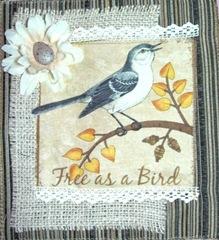 bird fabric ArtHaven hangie danglie