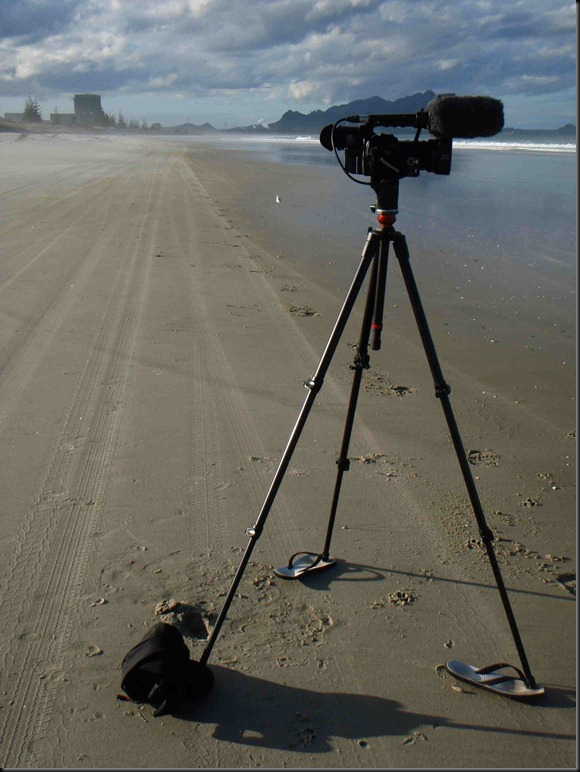 Nicolas' camera on beach