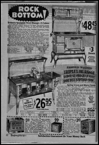 Montgomery Wards Windsor ad black and white