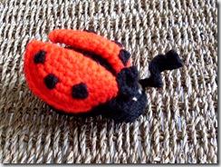 Ladybug Amigurumi  (handmade, yarn, plush crocheted doll)