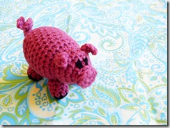 Piper Pig Amigurumi  (handmade, yarn, plush crocheted doll)