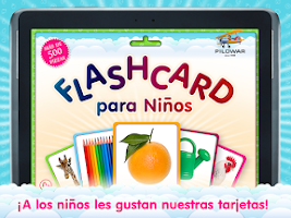 Screenshot of Flashcards for Kids in Spanish