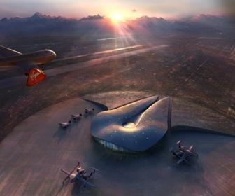 aeropuerto espacial de Norman Foster en Nuevo México