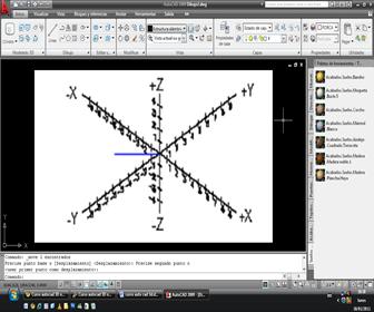 autocad Icono del Sistema Mundial de Coordenadas (WCS)
