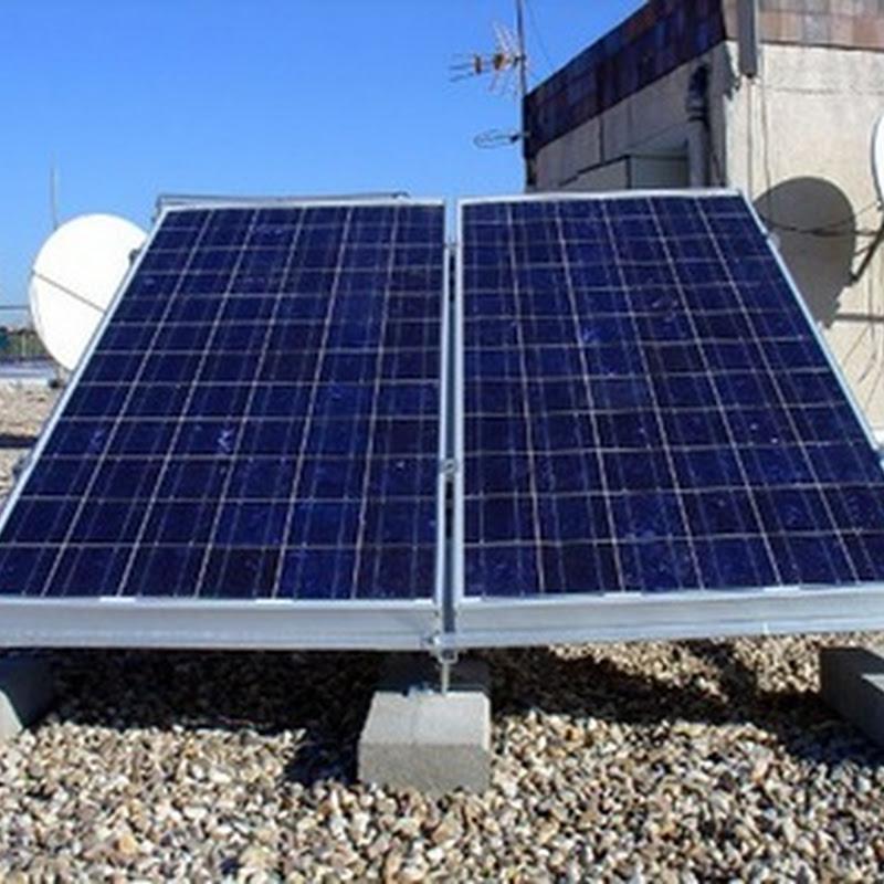Panel Solar con Celdas Fotovoltaicas