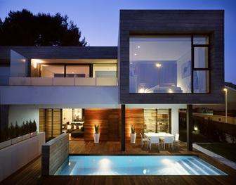 6 casas adosadas con fachada minimalista for Arquitectura de casas modernas planos