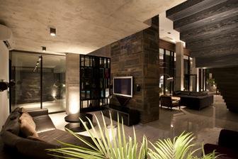 Villa kiani con fachadas de estilo minimalista arquitexs for Casas estilo minimalista interiores