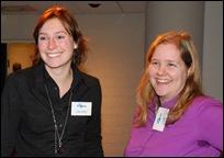 Rechts Sara van Bussel; links de onmisbare schakel achter de schermen: KB-collega Frederique Vijftigschild. Bedankt, Fre!