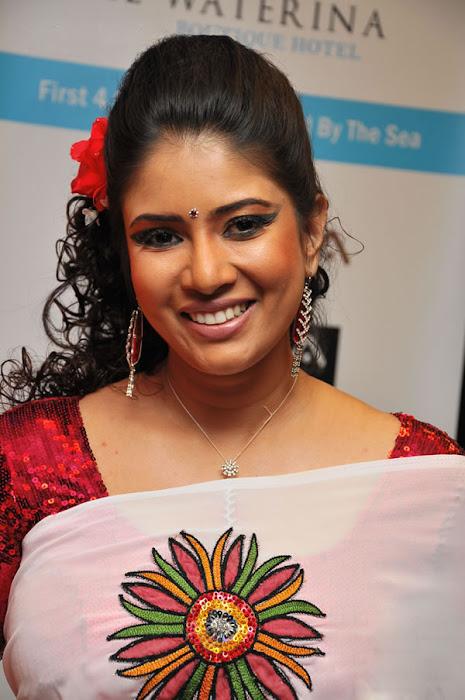 Sangavi in  Saree  Cute Pictures