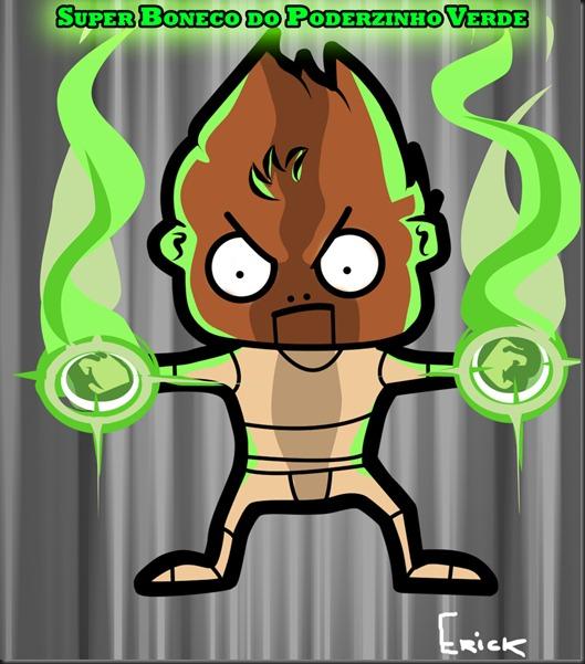Super Boneco do Poderzinho Verde