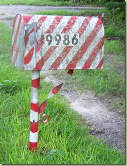 Candy Cane Mailbox