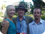 Amanda and Jesse Stubbs with Dad Rin