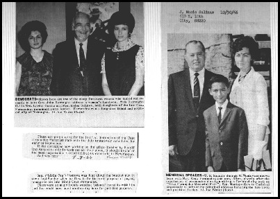 Cruz_daughters lorina gomez and helen salinas with gov john burroughs and sen joseph montoya with cruzsecond wife polly and son allen