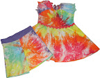 Tie Dyed Tunic and Yoga Shorts set/134 cm