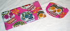 Pink Sugar Skulls Zipper Bags