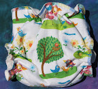 Small Bird Talk Fitted Diaper