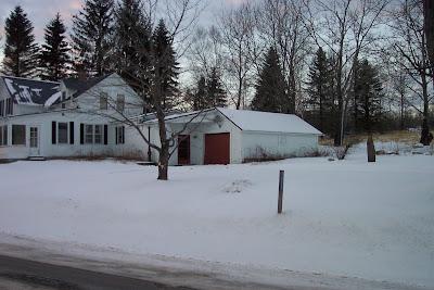 Vermont Ski House before paint job-winter view