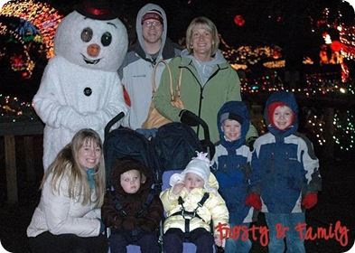 Cori Benson and family at The Lights of Christmas
