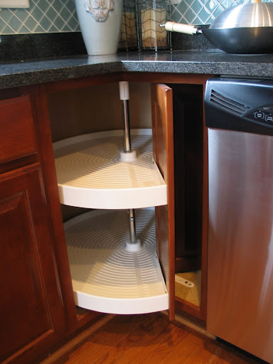 How to organize lazy susan cabinet thenest - How to organize a lazy susan cabinet ...