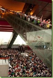 Visitantes en el Pabellón de China en la Expo 2010 Shanghái
