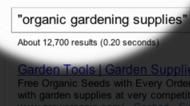 Search for organic gardening supplies