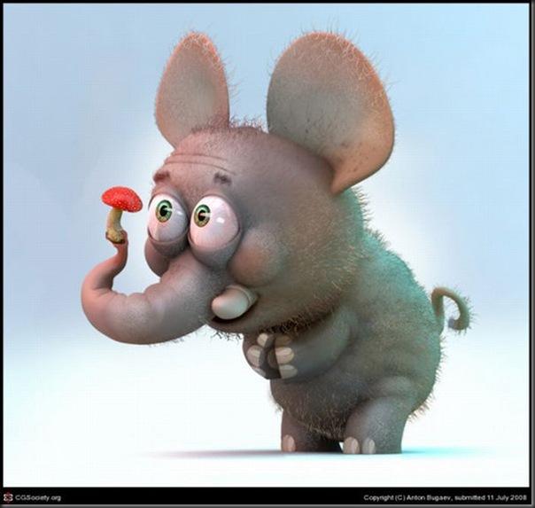 Criaturas divertidas em 3D (37)