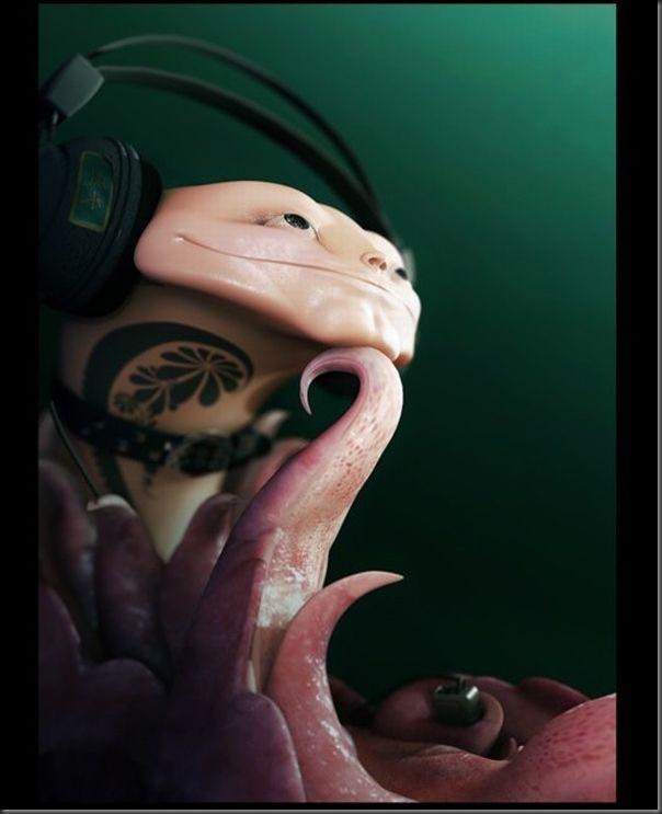 Criaturas divertidas em 3D (8)