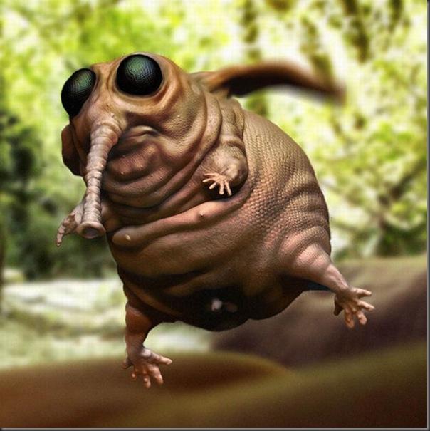Criaturas divertidas em 3D (1)