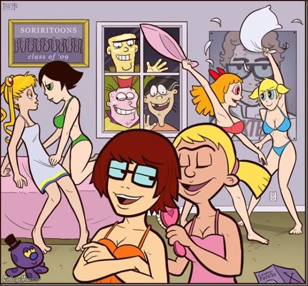 Personagens de desenhos animados na faculdade (5)