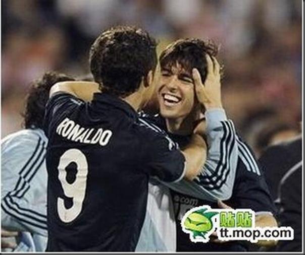 A bela amizade de Cristiano Ronaldo e Kaká (5)