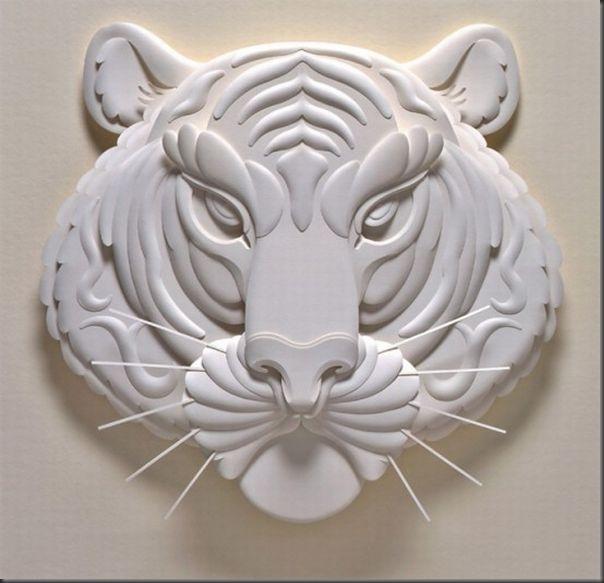 Lindas esculturas de papel