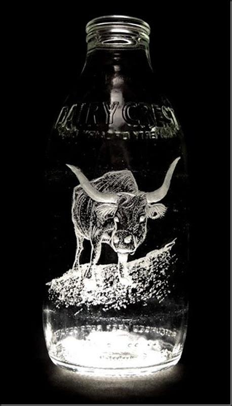 Arte na garrafa de leite por Charlotte Hughes-Martin (20)