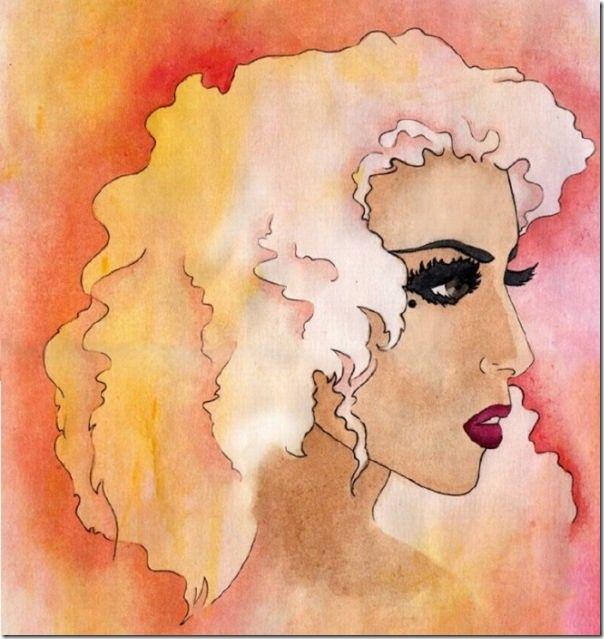 50 desenhos feitos por fãs de Lady Gaga (33)