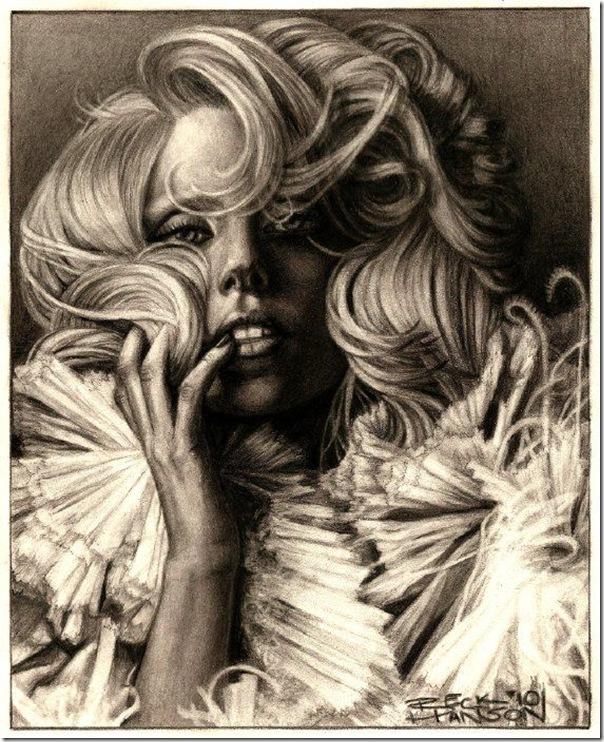 50 desenhos feitos por fãs de Lady Gaga (13)