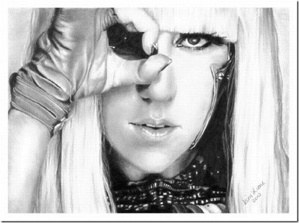 50 desenhos feitos por fãs de Lady Gaga (8)