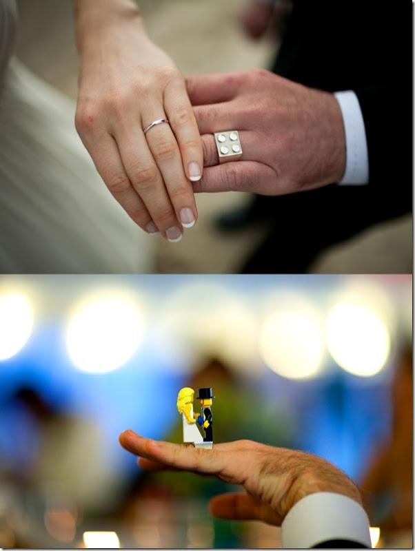 Anel de casamento de lego
