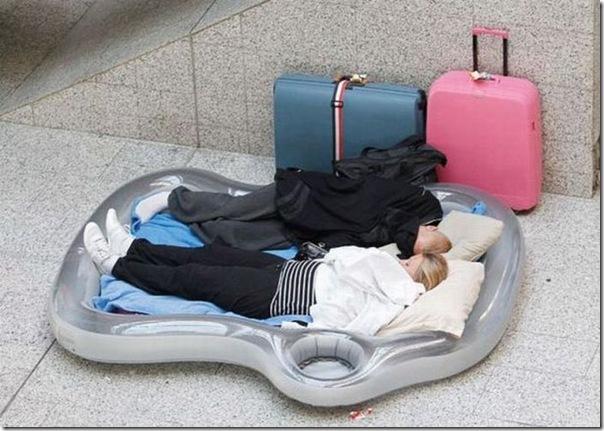 Cansado de esperar horas no aeroporto