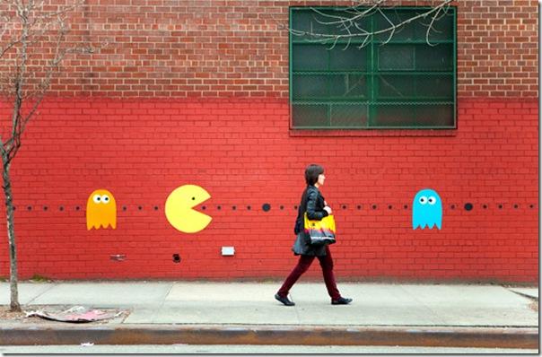 Pacman invade as ruas de Nova York