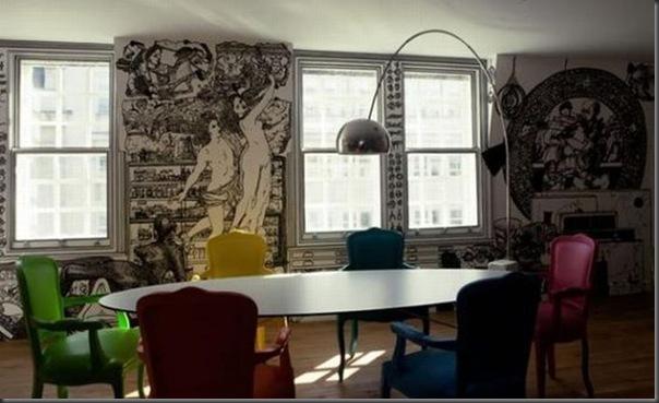 Arte em preto e branco com marcador em parede (1)