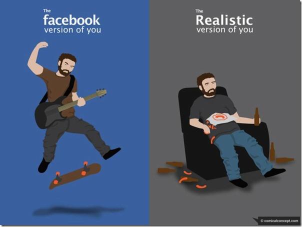 A realidade do facebook